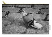 New York City Pigeon In Black And White Carry-all Pouch