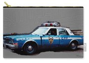 Vintage New York City Police Car 1980s Carry-all Pouch
