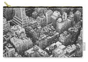 New York City - Skyline In The Snow Carry-all Pouch by Vivienne Gucwa