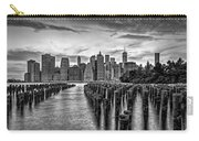 New York City Skyline Sunset Hues Bw Carry-all Pouch