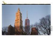 New York City Skyline Through The Trees Carry-all Pouch