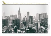 New York City - Snow-covered Skyline Carry-all Pouch