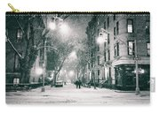 New York City - Winter Night In The West Village Carry-all Pouch