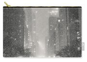 New York City - Winter Night Overlooking The Chrysler Building Carry-all Pouch by Vivienne Gucwa
