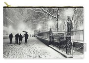 New York City - Winter - Snow At Night Carry-all Pouch