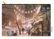 New York City - Winter Snow Scene - East Village Carry-all Pouch by Vivienne Gucwa