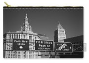 New York City With Traffic Signs Carry-all Pouch