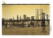 New York Downtown Manhattan Skyline - Yellow Panorama Carry-all Pouch