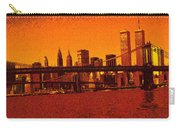New York Downtown Manhattan Skyline Red Carry-all Pouch
