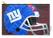 New York Giants Nfl Football Helmet License Plate Art Carry-all Pouch