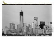 New York Harbor In Black And White Carry-all Pouch