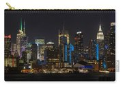 New York In Blue Carry-all Pouch