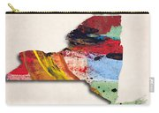 New York Map Art - Painted Map Of New York Carry-all Pouch