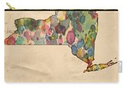 New York Map Vintage Watercolor Carry-all Pouch
