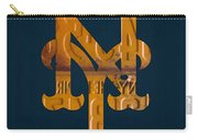 New York Mets Baseball Vintage Logo License Plate Art Carry-all Pouch