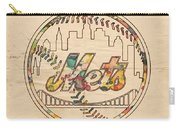 New York Mets Poster Vintage Carry-all Pouch
