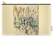 New York Roof Party - Watercolor Ink Carry-all Pouch
