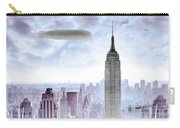 New York Skyline And Blimp Carry-all Pouch