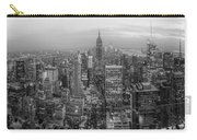 New York Skyline Panorama Bw Carry-all Pouch