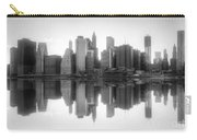 New York Skyline Sunset Bw Carry-all Pouch