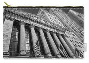 New York Stock Exchange Wall Street Nyse Bw Carry-all Pouch