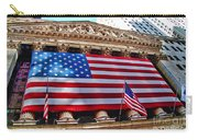 New York Stock Exchange With Us Flag Carry-all Pouch