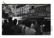 New York Street Fair - Black And White Carry-all Pouch