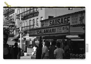 New York City Street Fair - Calamari Sausage - Black And White  Carry-all Pouch