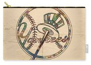 New York Yankees Poster Vintage Carry-all Pouch