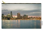 New York City - Brooklyn Bridge To Manhattan Bridge Panorama Carry-all Pouch