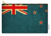 New Zealand Flag Vintage Distressed Finish Carry-all Pouch