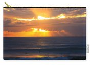New Zealand Surfing Sunset Carry-all Pouch
