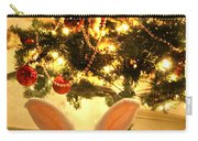 New Zealand White Rabbit Under The Christmas Tree Carry-all Pouch