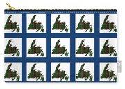 Newfoundland Tartan Map Blocks Blue Trim Carry-all Pouch
