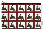 Newfoundland Tartan Map Blocks Red Trim Carry-all Pouch