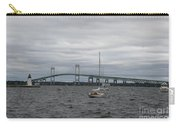 Newport Bridge With Newport Harbor Light Carry-all Pouch