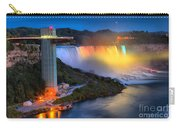 Niagara American Falls At Night Carry-all Pouch