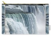Niagara Falls American Side Closeup With Warp Frame Carry-all Pouch