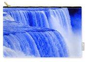 Niagara Falls Closeup In Blue Carry-all Pouch
