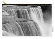 Niagara Falls In Black And White Carry-all Pouch