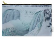 Niagara Falls Usa In Winter Carry-all Pouch