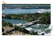 Niagara River And Goat Island Aerial View Carry-all Pouch