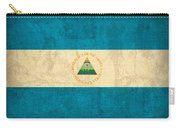 Nicaragua Flag Vintage Distressed Finish Carry-all Pouch