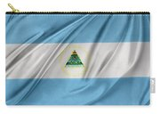 Nicaraguan Flag Carry-all Pouch by Les Cunliffe