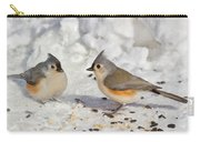 Nice Pair Of Titmice Carry-all Pouch