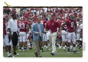 Nick Saban And The Tide Carry-all Pouch
