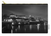 Night At Waterworks In Black And White Carry-all Pouch