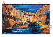 Night Colors Over Riomaggiore - Cinque Terre Carry-all Pouch by Elise Palmigiani