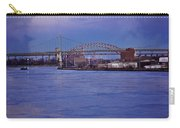 Night Descends Over The Triboro Bridge - Nyc Carry-all Pouch