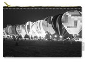 Night Glow Hot Air Balloons Bw Carry-all Pouch